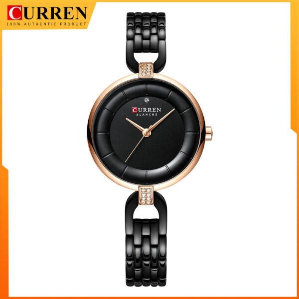CURREN Luxury Simple Women Quartz Watch Bracelet Wrist Watch Stainless Steel Band 9052 Malaysia