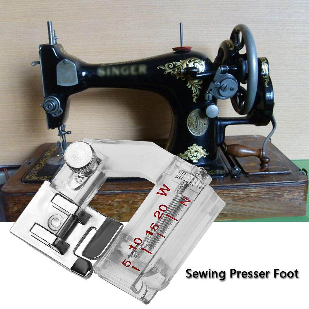 Sewing Machine Presser Foot Adjustable Bias Binder Foot for Domestic Sewing Machines Cloth Hemmer Foot Rolled Tool