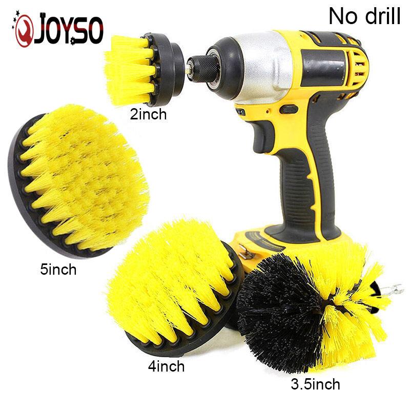 Joyso 4 Cái/bộ Gạch Vữa Điện Cọ Rửa Vệ Sinh Mũi Khoan Bàn Chải Bồn Tắm Bụi Combo Bộ