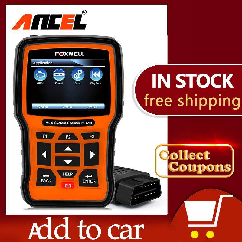 FOXWELL NT510 OBD2 Scanner Full System Diagnostic Tool Check Engine Clear  Code Reader ABS/SRS/EPB/Transmission with Oil ABS EPB Reset for BMW GM Benz