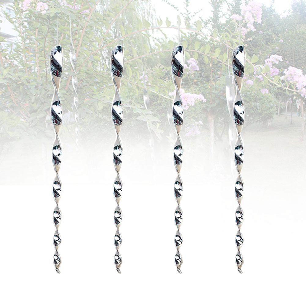 4Pcs Deterrent Portable Protect Crop Outdoor Repellent Decoration Reflective Bird Scare Rod Hanging Pigeons Garden Spiral Design Safe