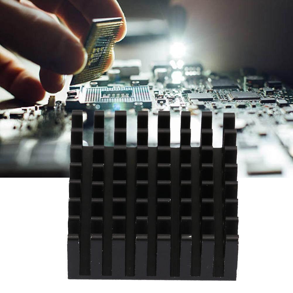 (Gold Certified Qianmei)10pcs P25*10*25-B Aluminum Black Heat Sink Chip Cooling Fin