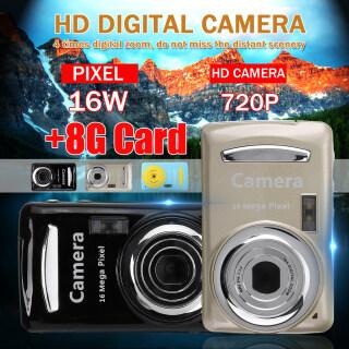 Máy Ảnh Kỹ Thuật Số 16MP 720P HD, Ngoài Trời Máy Quay Phim, Camera Kỹ Thuật Số Cảm Biến CMOS Chụp Ảnh Ổn Định Chính Xác Đi Bộ Đường Dài + Thẻ Nhớ 8 GB thumbnail