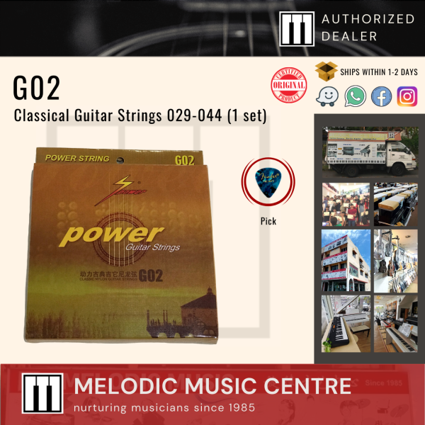 Power G02 Nylon Classical Guitar Strings Set Extra Light  (029-044) Malaysia