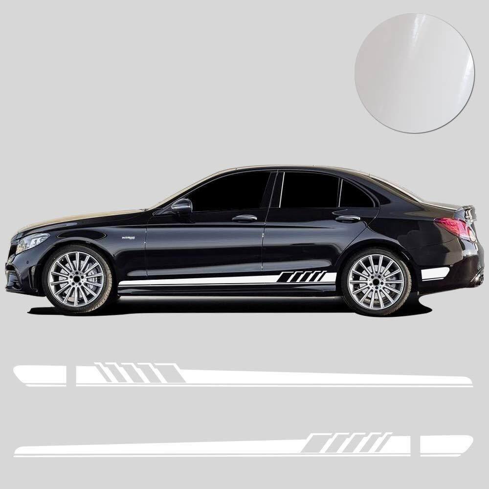 2pcs car side body vinyl decal sticker sports racing race car long stripe decals 210x11