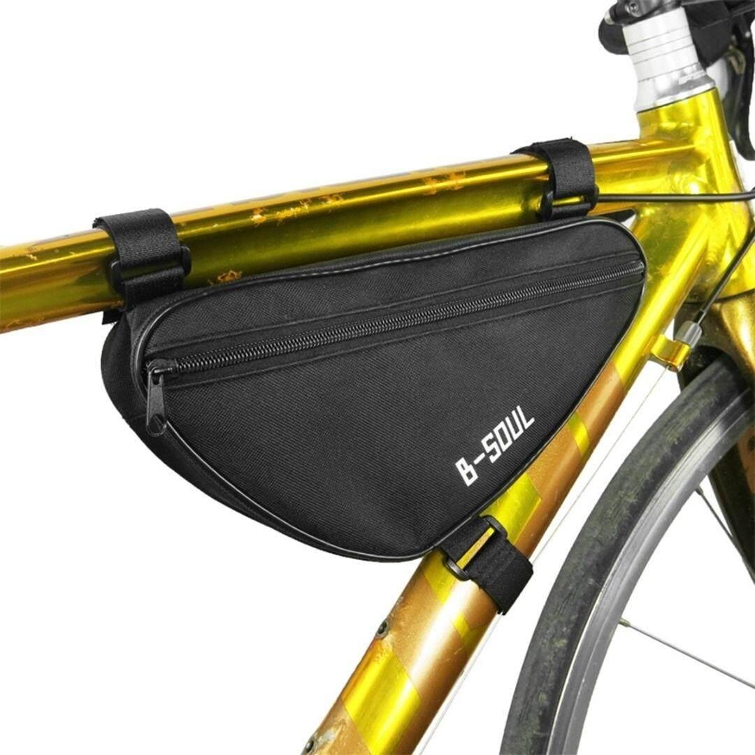 Outdoor Mtb Mengendarai Sepeda Bersepeda Tabung Atas Segitiga Depan Frame Tas Penyimpanan (hitam) By Simplelife.