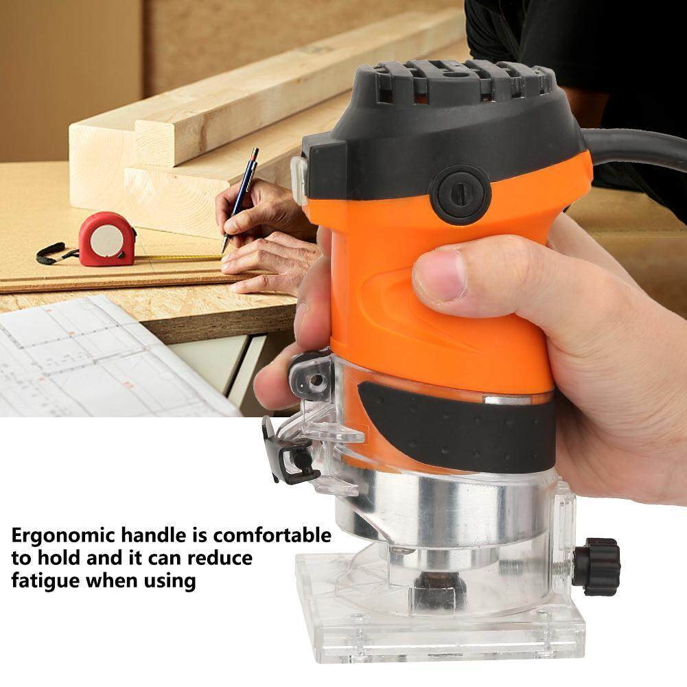 Electric Hand Laminate Edge Trimmer Router Wood Carving Woodworking Machine CN Plug 220V