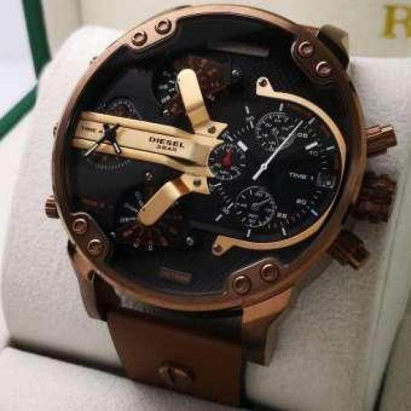SPACIAL PROMOTION Diesel Analog Quartz Hand Leather Watch Set Malaysia