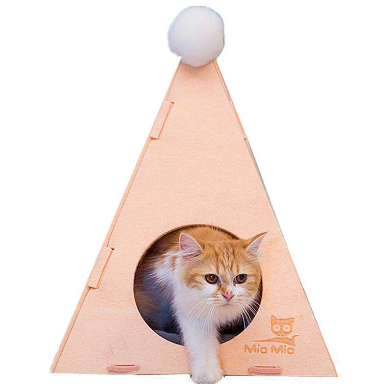 Japanese Triangle Cat Kitten Felt Bed Playroom By P A F Pet Store.