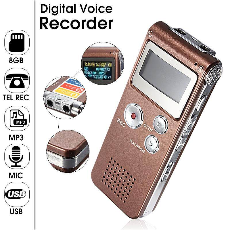 Rechargeable 8GB LCD Digital Voice Recorder Audio Dictaphone MP3 Player For Meeting
