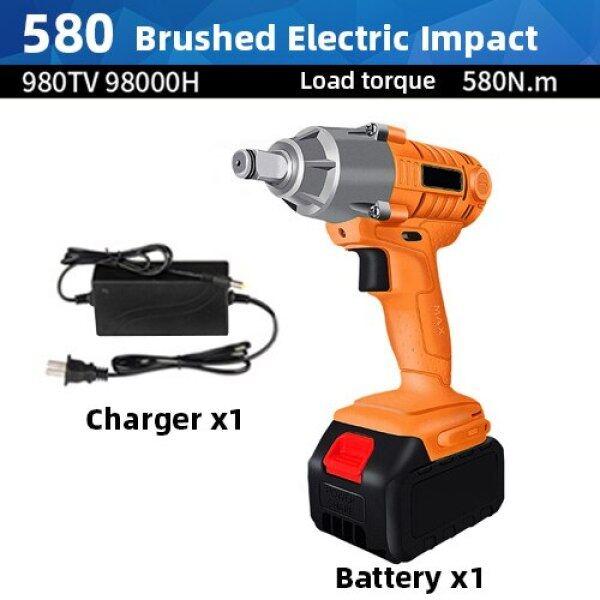 Powerful Impact Wrench Electric Burshless Impact Cordless Wrench 580Nm 680Nm 880Nm Electric Wrench Rechargeable Lithium Battery