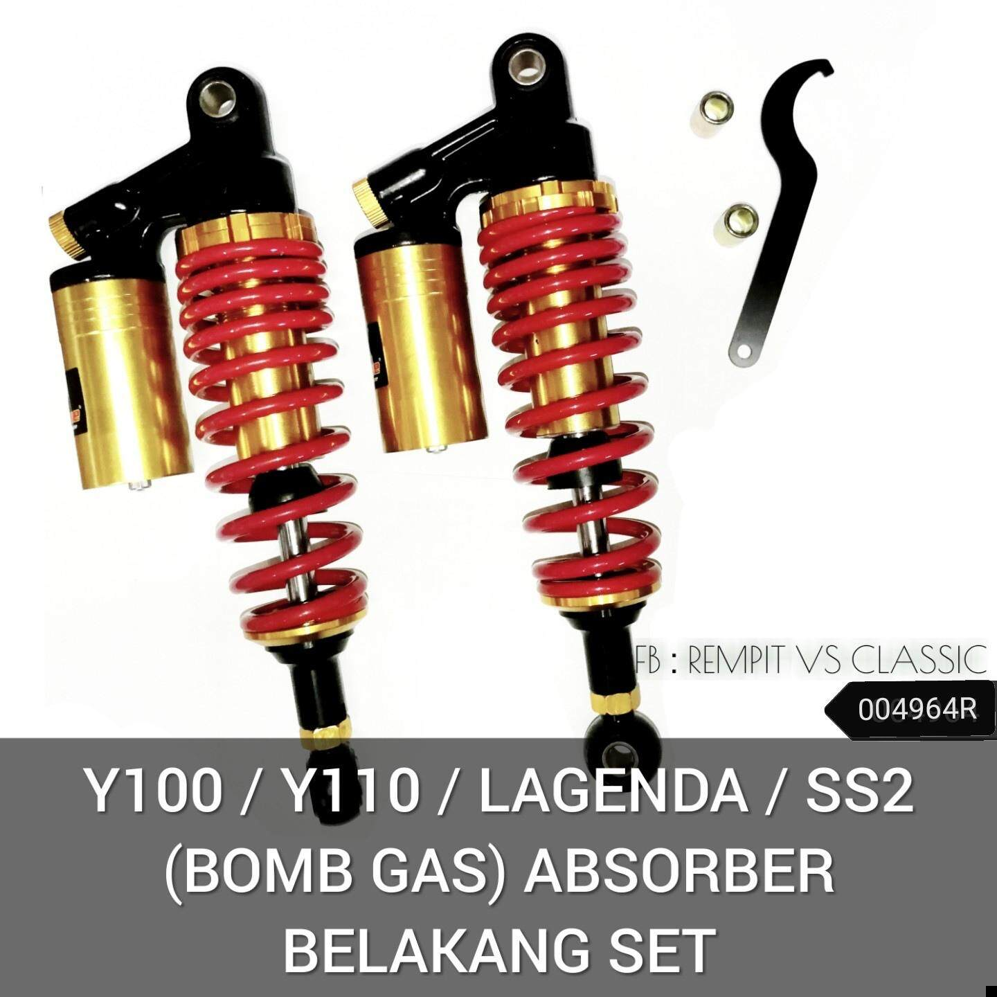 Y100 / Y110 / LAGENDA / SS2 (BOMB GAS) ABSORBER BELAKANG SET Malaysia