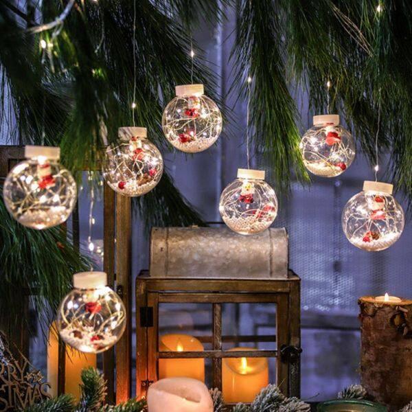 Bảng giá DFDGFED DẪN ĐẾN Dây Thông Noel Ông Già Noel Người Tuyết Quà Tặng Năm Mới Quả Cầu Trang Trí Cho Cây Thông Noel Ánh Sáng