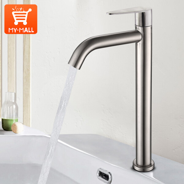 Kitchen faucet household sink faucet single cooling 304 stainless steel faucet bathroom washbasin faucet extension kepala paip bilik air