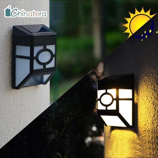 Đèn LED Treo Tường Chinatera, Dùng Năng Lượng Mặt Trời, Chống Thấm Nước, Đặt Ngoài Trời, Trong Vườn Hoặc Sân Hàng Rào