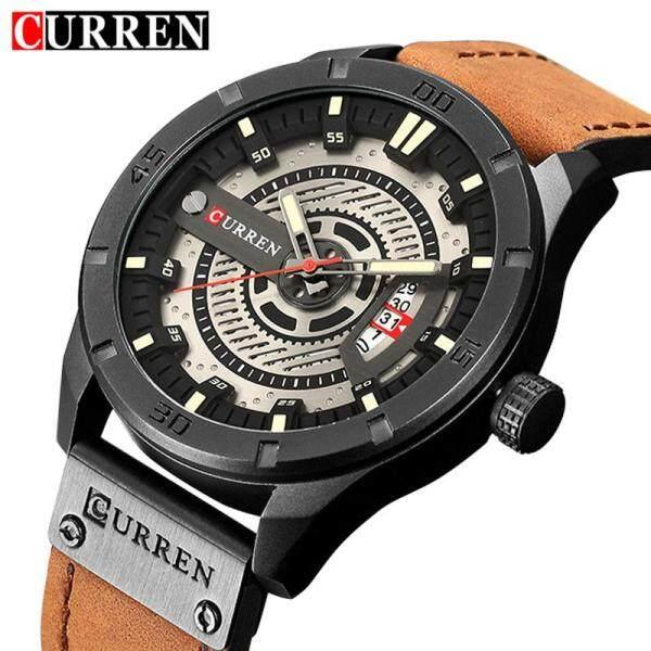CURREN Fashion Men Watch Casual Waterproof Watches Luxury Brand Date Display Shock Resistant Leather Strap Business Quartz Wristwatches 8301Jam tangan lelaki Malaysia
