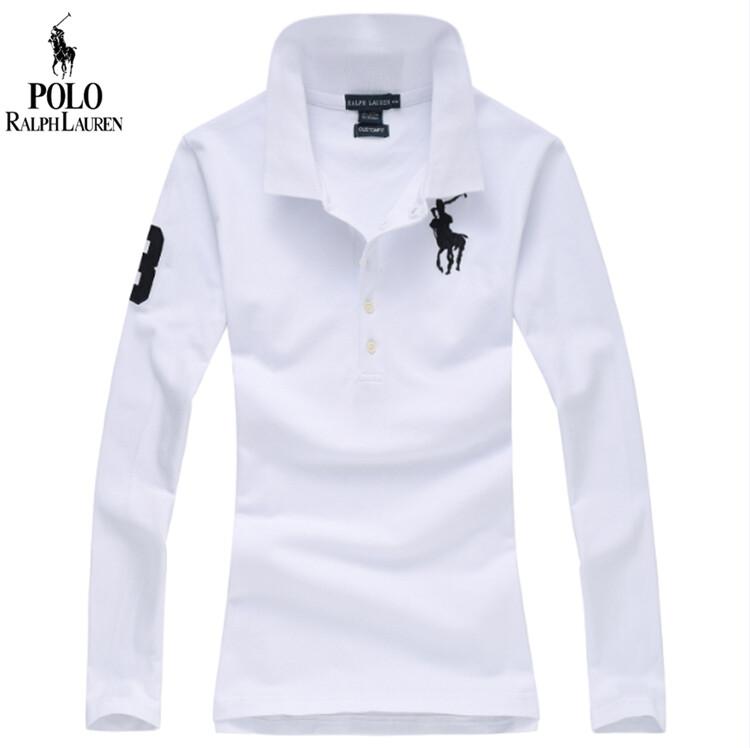 Áo Phông Có Cổ Ralph Lauren Cho Nữ Áo Polo Nhuộm Kiểu Mới Thời Trang Xuân Hè Tay Dài Vải Cotton Đẹp Dáng Ôm 100% Thêu Thường Ngày