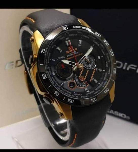 (New Promo)  Blue Moon Valley New Model Leather Strap Wrist With All Chronograph In Function Jam tangan lelaki Malaysia