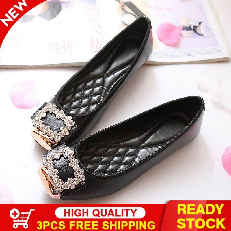 886ed3c820611 Victory Women New Rhinestones Square head Peas shoes Large size Shoes Boat shoes  Ballet Flat shoes