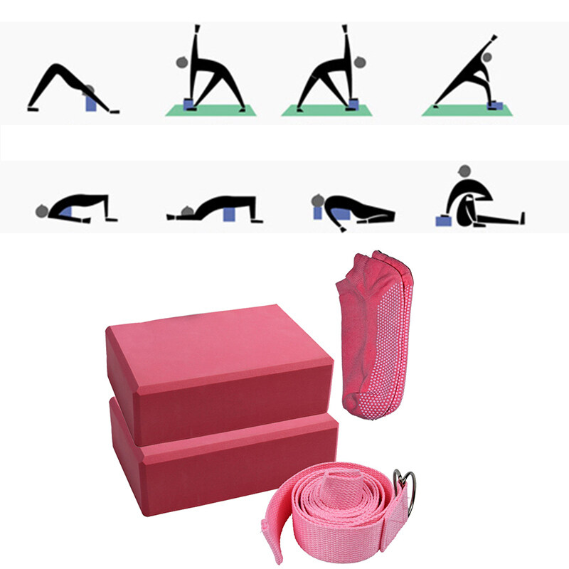 Bảng giá Yoga Block Set EVA Pilates Fitness Belt Set Stretching Belt Yoga Block Fitness Equipment for Training