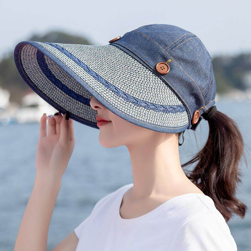 126fa919 Fashion UV Protection Sun Visor Outdoor Big Beach Hat Sun Hat Summer Sun Hat