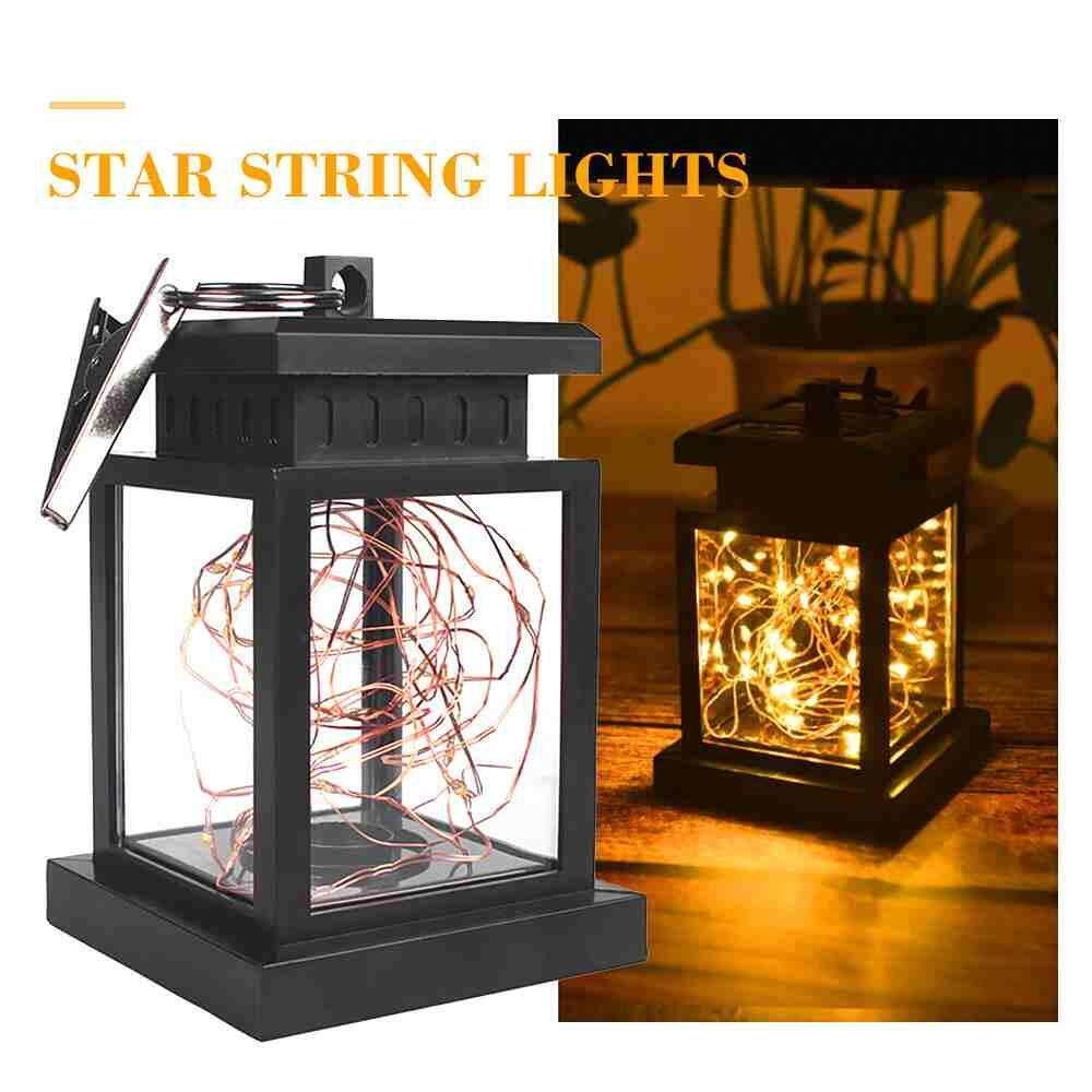 Watson New Solar Copper Wire Outdoor Waterproof LED Lamp Garden Decoration With Clip Solar outdoor Lights