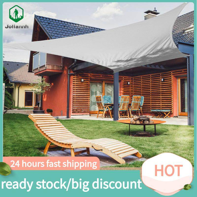joliannh【biggest discount+lowest price】Outdoor Sun Shade Sails Canopy Cover Net Polyester for Patio Garden 2*3M
