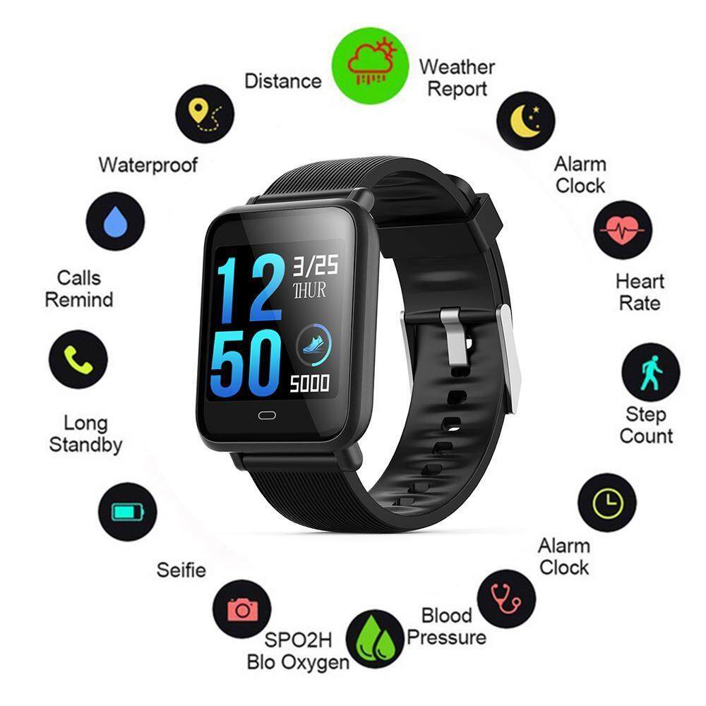 [ FREE STRAP ] Smart Watch With Heart Rate Blood Pressure Monitor GPS Activity Tracker Pedometer Calorie BT Call Health Monitor Holiday Run Wearable Phone Malaysia