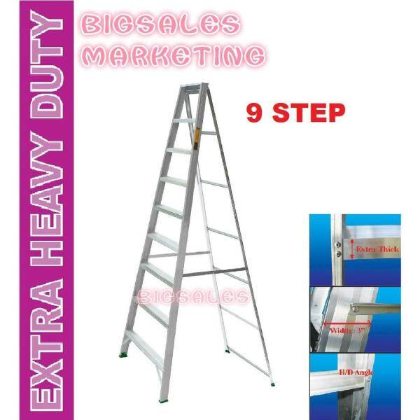 9 Steps BIGSALES Aluminium Single Sided Ladder / Tangga 9 Steps