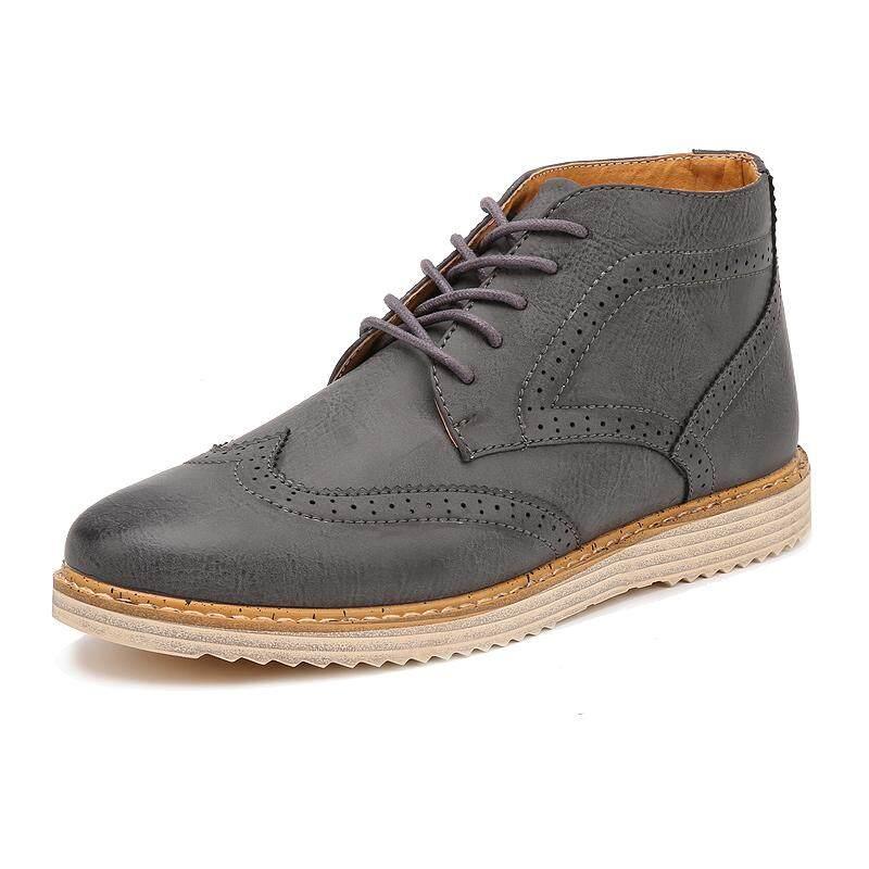 ฤดูใบไม้ร่วงและฤดูหนาวแฟชั่นของผู้ชาย Casual Youth High ช่วยรองเท้า Martin, รองเท้า By Asia Online Supermarket.