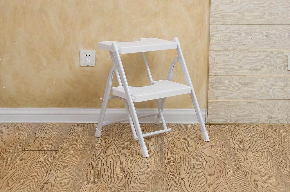 Lightweight Folding Step Ladder Anti-slip Sturdy and Wide Pedal Ladder Mini-Stool