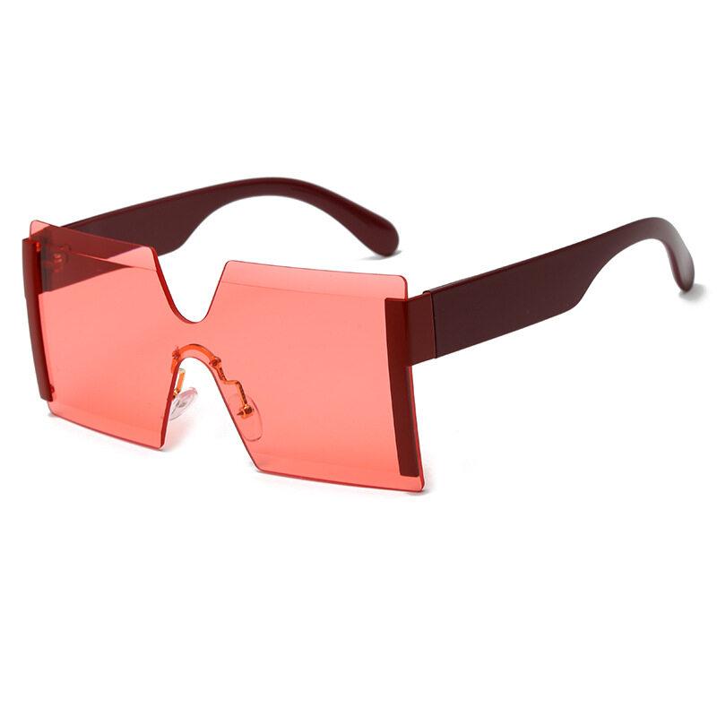 Fashion Sunglasses Box Frame Sunglasses Retro Square Personality Sunglasses Conjoined Metering Goggles
