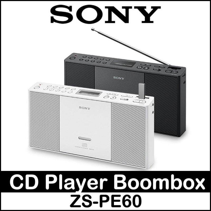 Sony ZS-PE60 Portable Slim CD Player Boombox Speaker CD AUX CD AM FM USB Singapore
