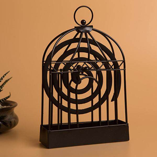 Nordic iron mosquito coil holder summer creative home dish incense sandalwood incense burner mosquito coil bird cage bedroom desktop decoration
