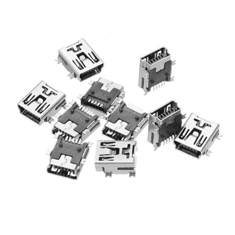 Bảng giá 10 Mini 5pin USB 180 Độ Nữ Ổ Cắm Cổng Kết Nối Sạc Ổ Cắm Ổ Cắm USB Giao Diện Phong Vũ