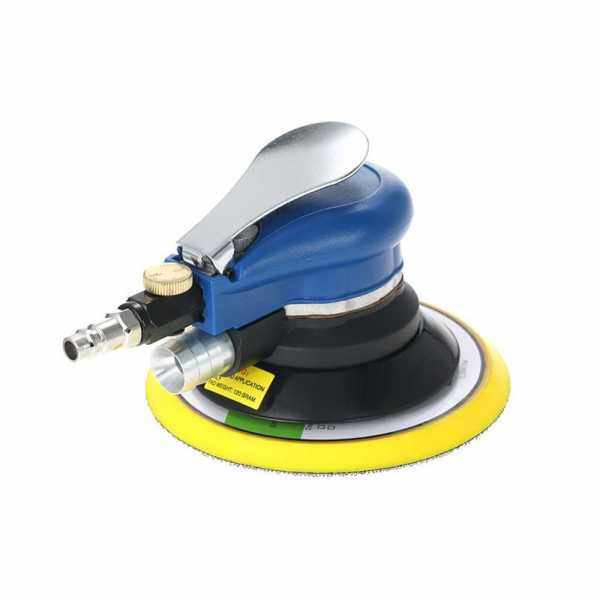 6 Inches 10000RPM Dual Action Pneumatic Air Sander Car Paint Care Tool Polishing Machine Electric Woodworking Grinder Polisher (Eu)