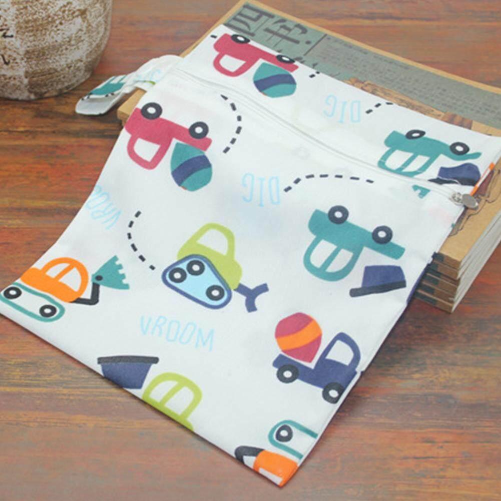 1 Buah Dapat Digunakan Kembali Tahan Air Fashion Cetakan Basah Kering Tas Popok Pakaian Bayi Nappy Tas
