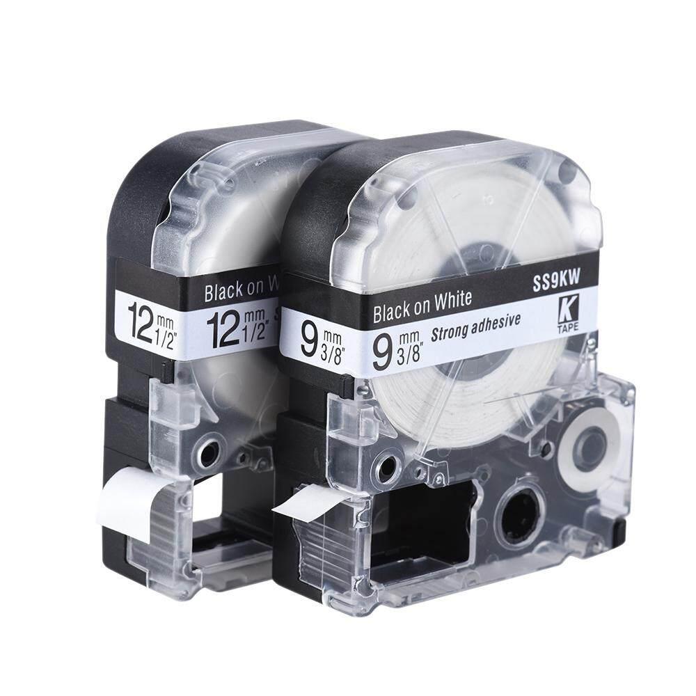 Hitam Dan Putih Pita Label 12 Mm X 8 M Kompatibel Untuk Epson Kingjim Printer Label Lw400/lw600/sr230c/sr230ch /sr530c/sr550c By New Plus.