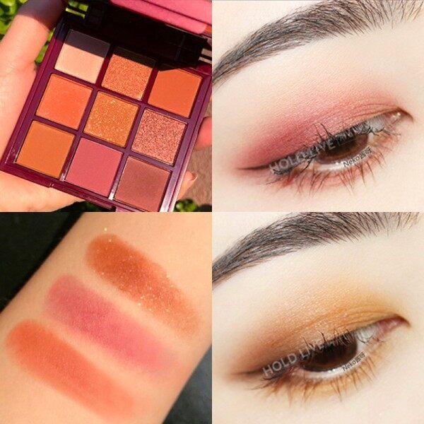 HOLD LIVE -Bảng phấn mắt 9 màu Red Velvet Honey Eyeshadow tông hồng đào cam đào hot Tiktok Holdlive giá rẻ
