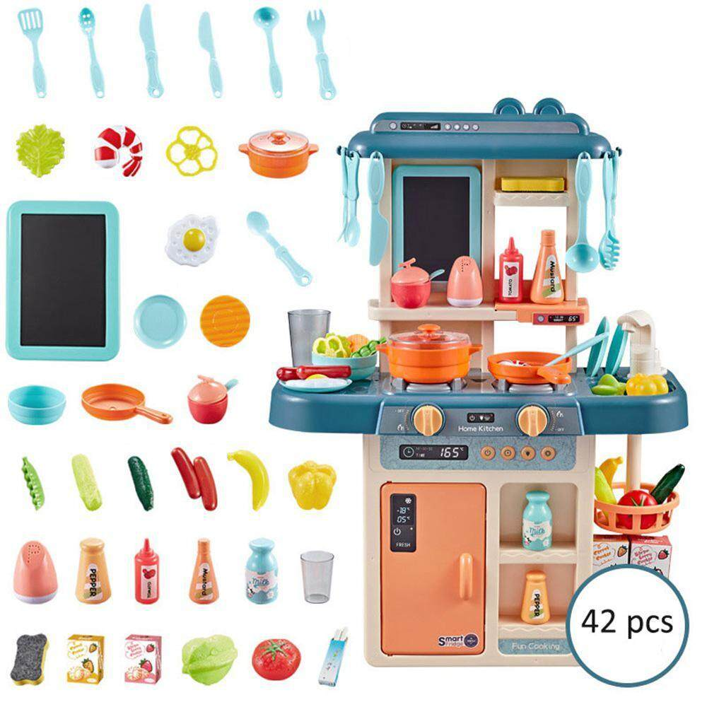Pawaca Kitchen Cooking Play Set Kids Pretend Play Kitchen Toys Set With Sound And Light Effects 3yrs Old Above