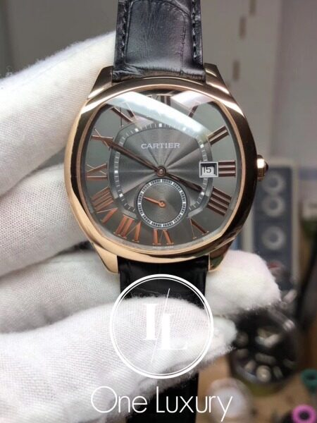 [ONE LUXURY] DRIVE 41MM BLACK DIAL 18K ROSE GOLD ON BLACK LEATHER STRAP MENS WATCH Malaysia