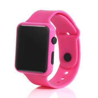 ใหม่นาฬิกาข้อมือดิจิตอลอิเล็กทรอนิกส์เด็กเด็กกันน้ำจอแสดงผลLEDซิลิโคนสายนาฬิกาข้อมือ (เก็บเงินปลายทาง)