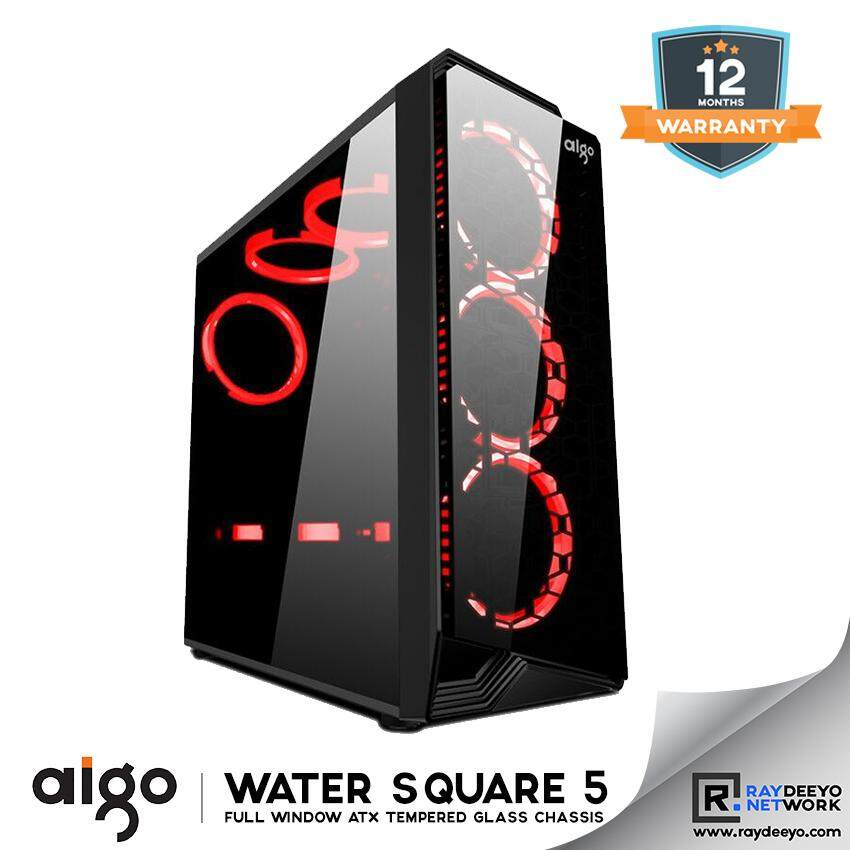 Aigo Water Square 5 Chassis [Front - Tempered Glass, Side - Tempered Glass, ATX, Matx, Mini-ITX] Malaysia