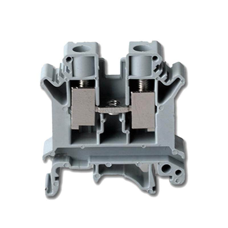 Uk10N Din Rail Terminal Block Screw Clamp Connector, 800V 76a Gray for 20-4 awg, 50 Pcs