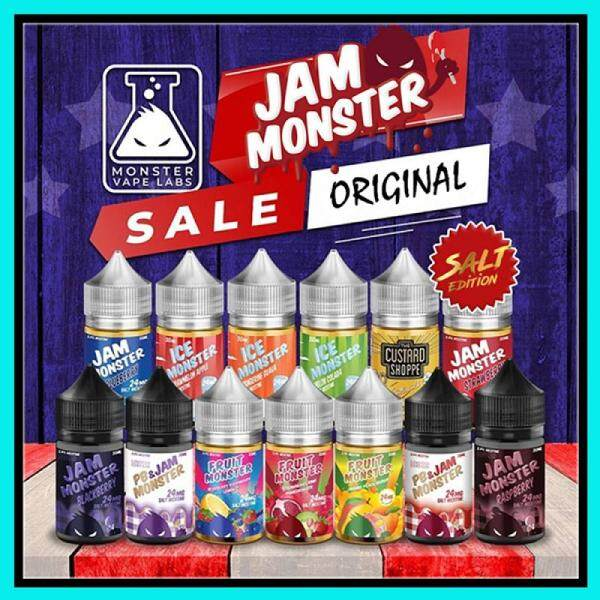 Original USA Jam Monster / Fruit Monster / The Custard Shoppe / Ice Monster Series Salt Edition By Monster Vape Labs 24MG / 48MG Saltnic Vape Ejuice Eliquid 30ML Malaysia