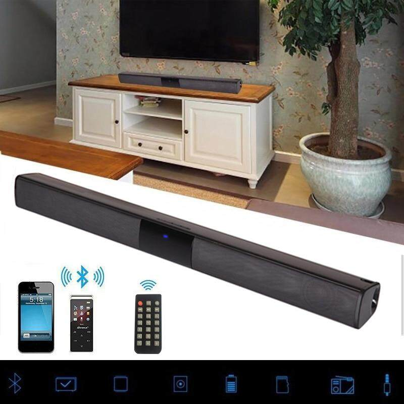 Soundbar Bluetooth Speaker, TV Home Theater Built-in 2000mah Sound Bar TF  USB SoundBar, Wireless Bluetooth And Wired Connect,Touch And Remote Control