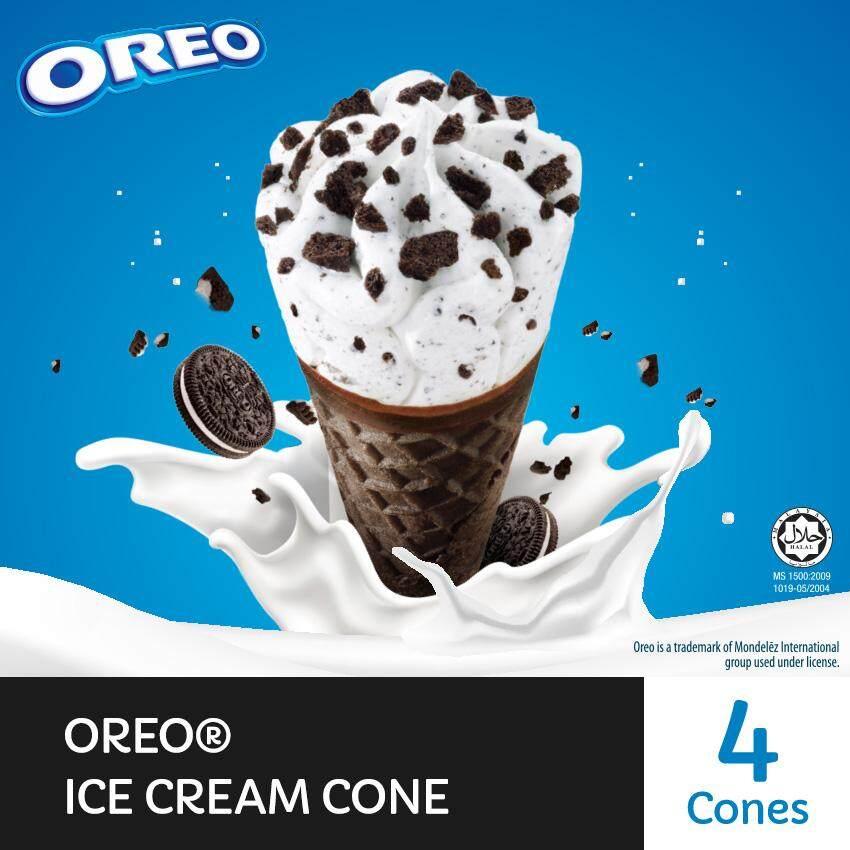 OREO Cone Ice Creams ( 4 Cones, 110ml Each )