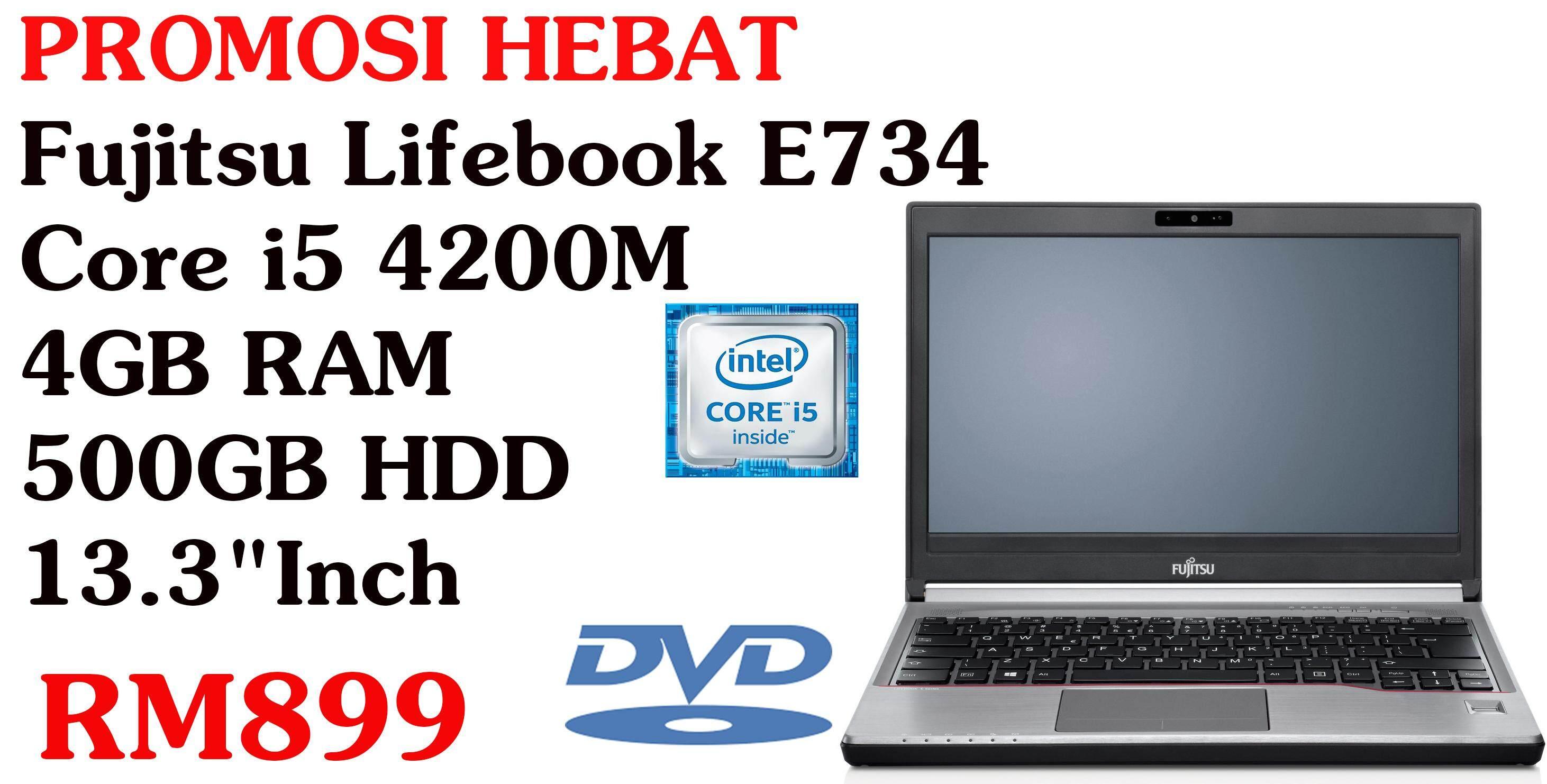 Fujitsu LIFEBOOK E734 - 13.3 - Core i5 4200M - 4 GB RAM - 500 GB HDD Malaysia