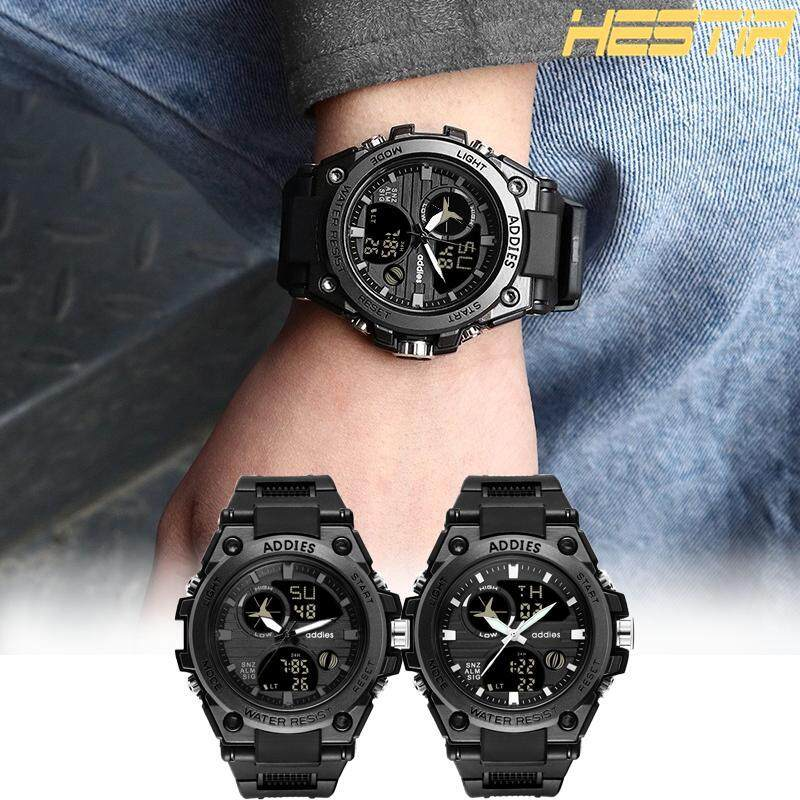 Addies MY-1818 New Plastic Multifunctional Watch LED Electronic Sport Business Luminous Watch For Men Malaysia
