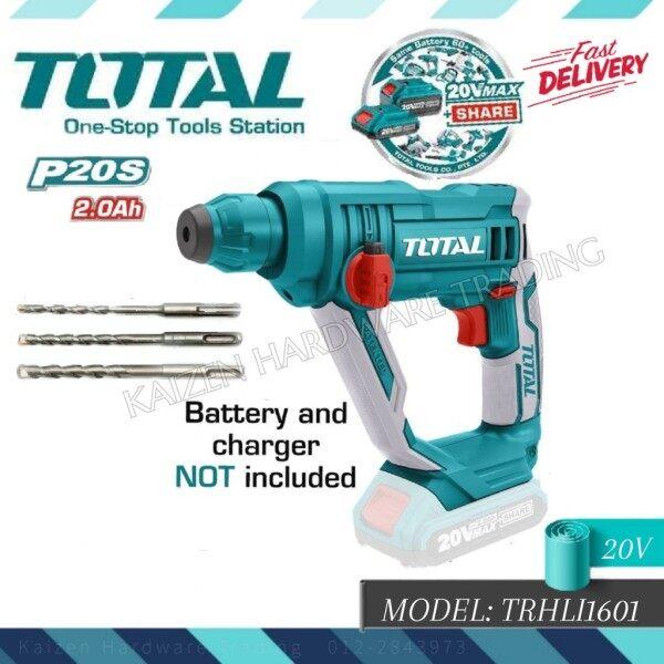 TOTAL TRHLI1601 20V LITHIUM-ION ROTARY HAMMER